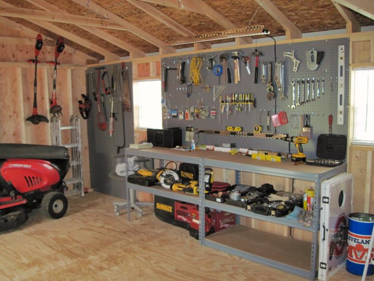 shed ideas workbench