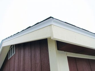 quality sheds roof overhang