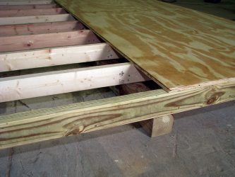 quality sheds standard floor joist 12inches on center