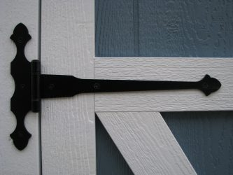 quality sheds heavy duty black hinges