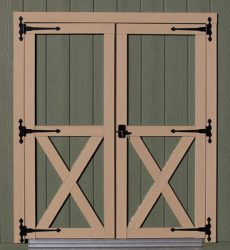 quality sheds standard wood doors