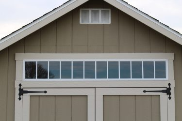 storage shed options 6 foot transom window