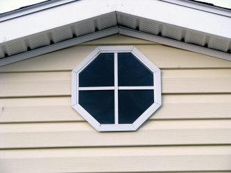 storage shed options octagon window
