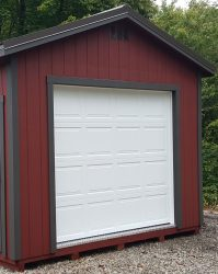 storage shed options garage door
