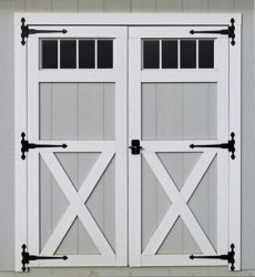 storage shed options transom doors