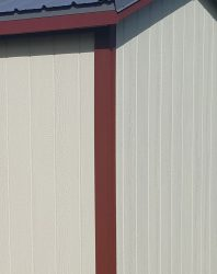 storage shed options different color trim