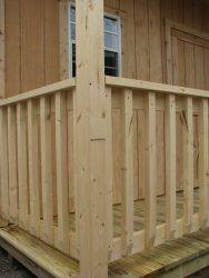 storage shed options railing