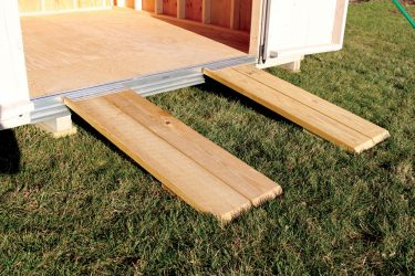 storage shed options removable ramp