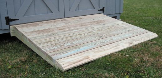 storage shed options ramp