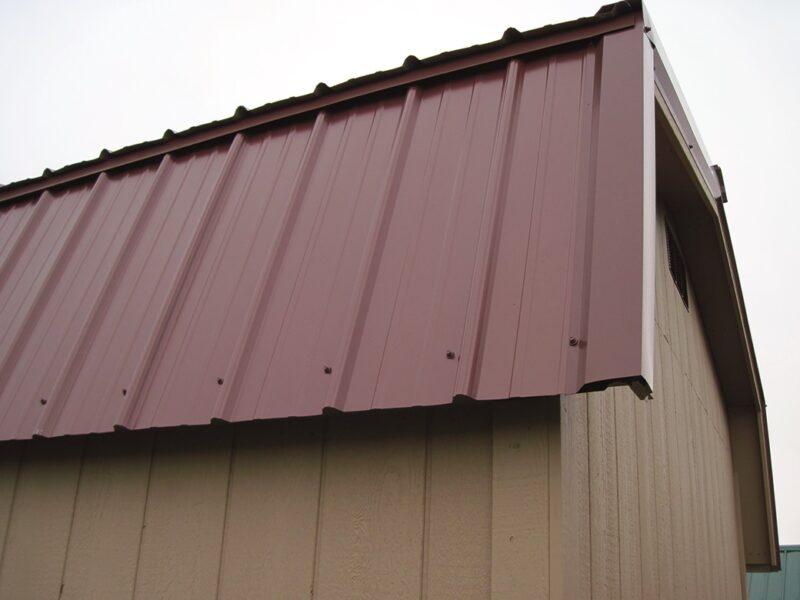 metal roof on highwall barn