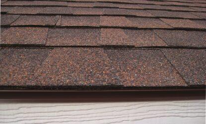 shingle roof with drip edge