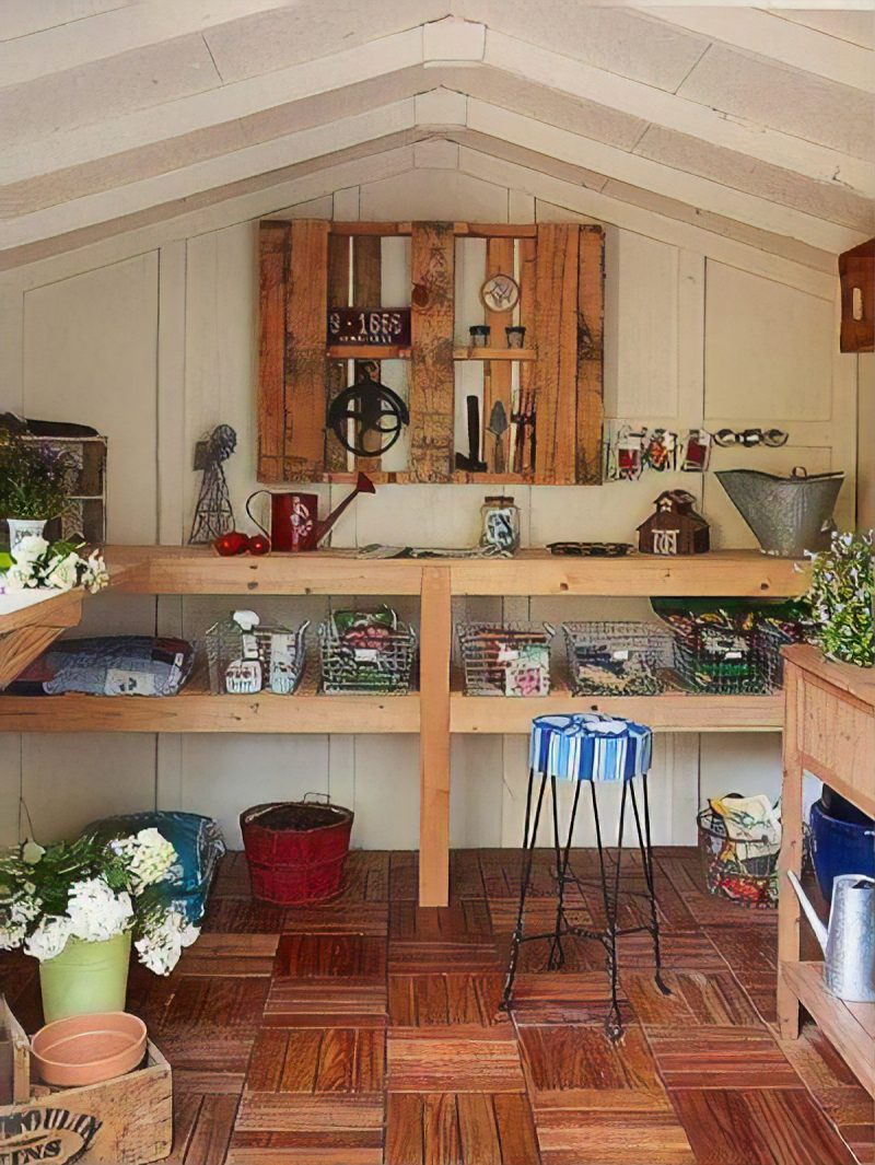 shed shelving diy