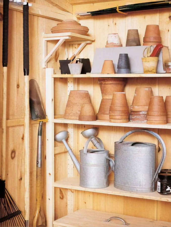 shed shelving ideas