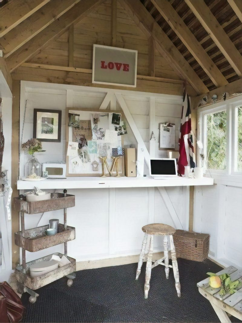 shed interior ideas furniture