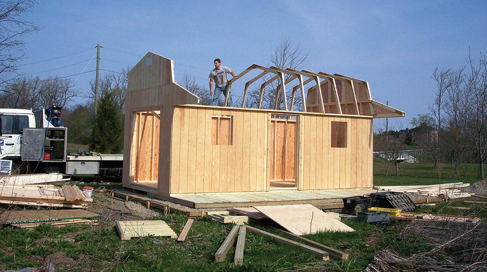sheds built onsite near dayton ohio