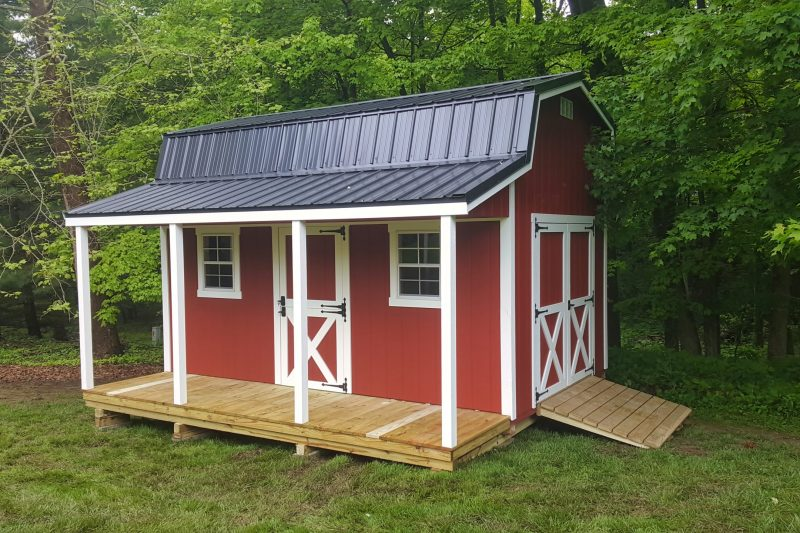 prefab sheds with porches for sale near me