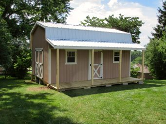 custom prefab sheds with porches rent to own near columbus ohio