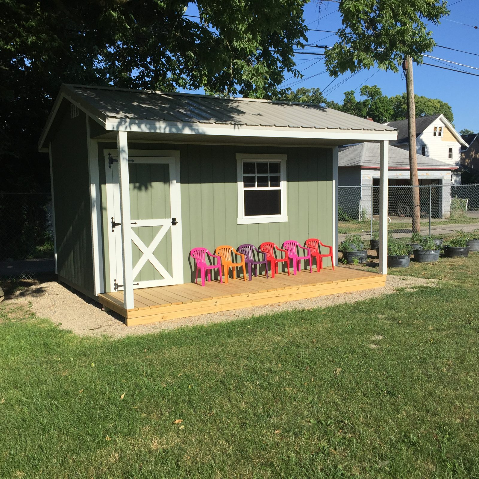 jefferson street oasis springfield ohio community garden with garden sheds 15