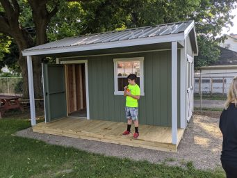 jefferson street oasis springfield ohio community garden with garden sheds 29