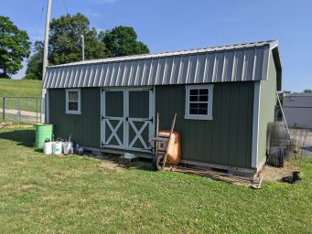 jefferson street oasis springfield ohio community garden with garden sheds 31