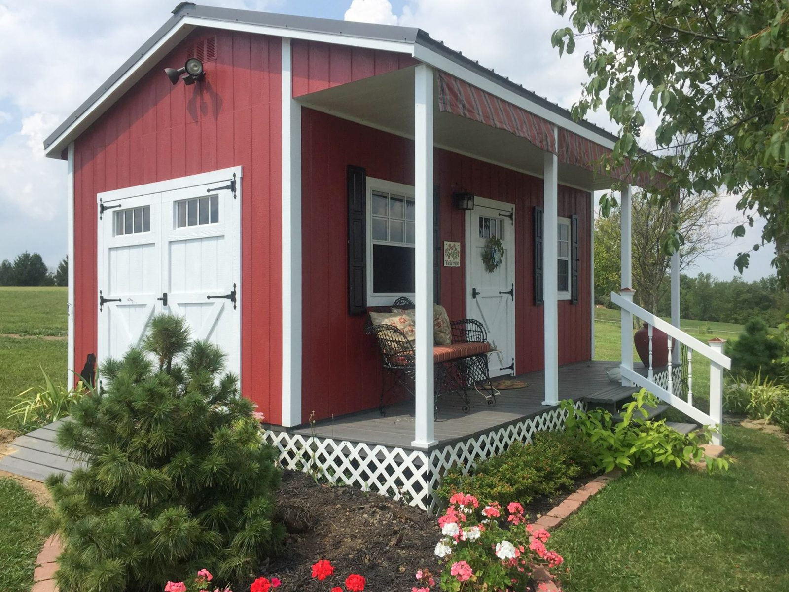 sheds with porches near montgomery county ohio