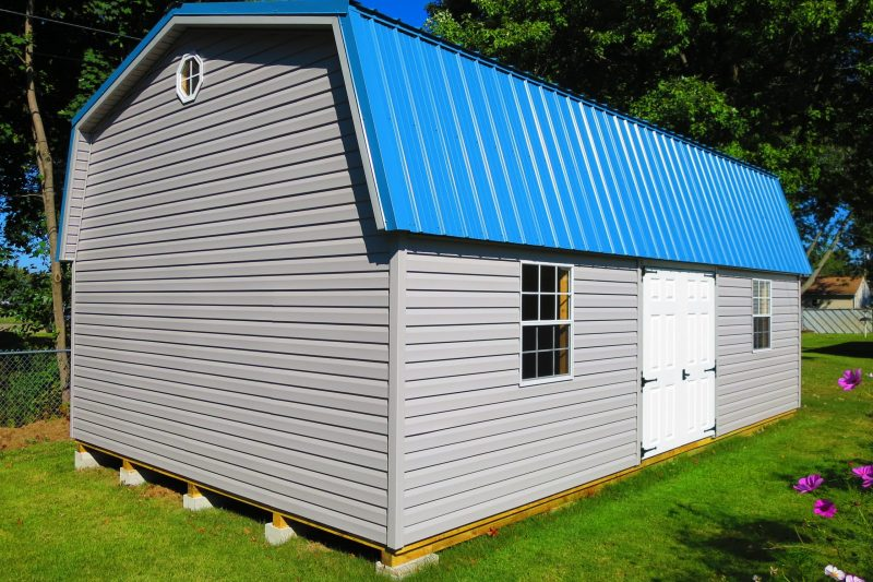 premier highwall storage shed with loft near springfield ohio