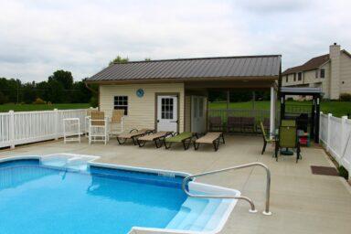 prefab pool house shed for sale near columbus ohio