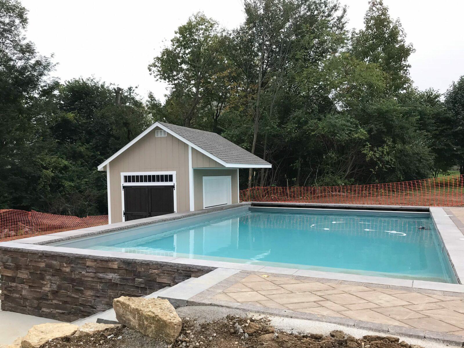 prefab pool house shed near central ohio