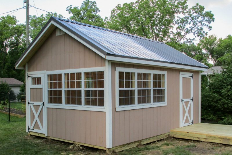 sunlit office shed for sale in central ohio