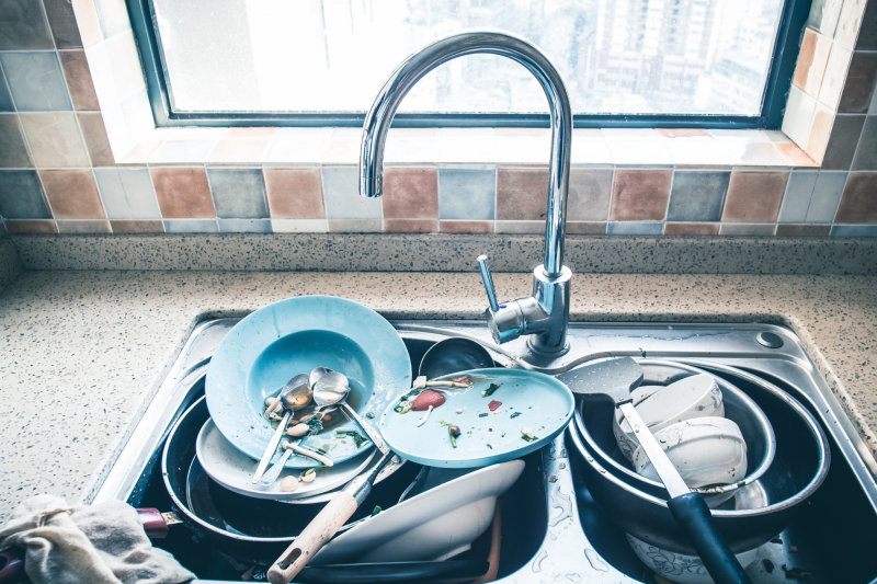 dishes mess