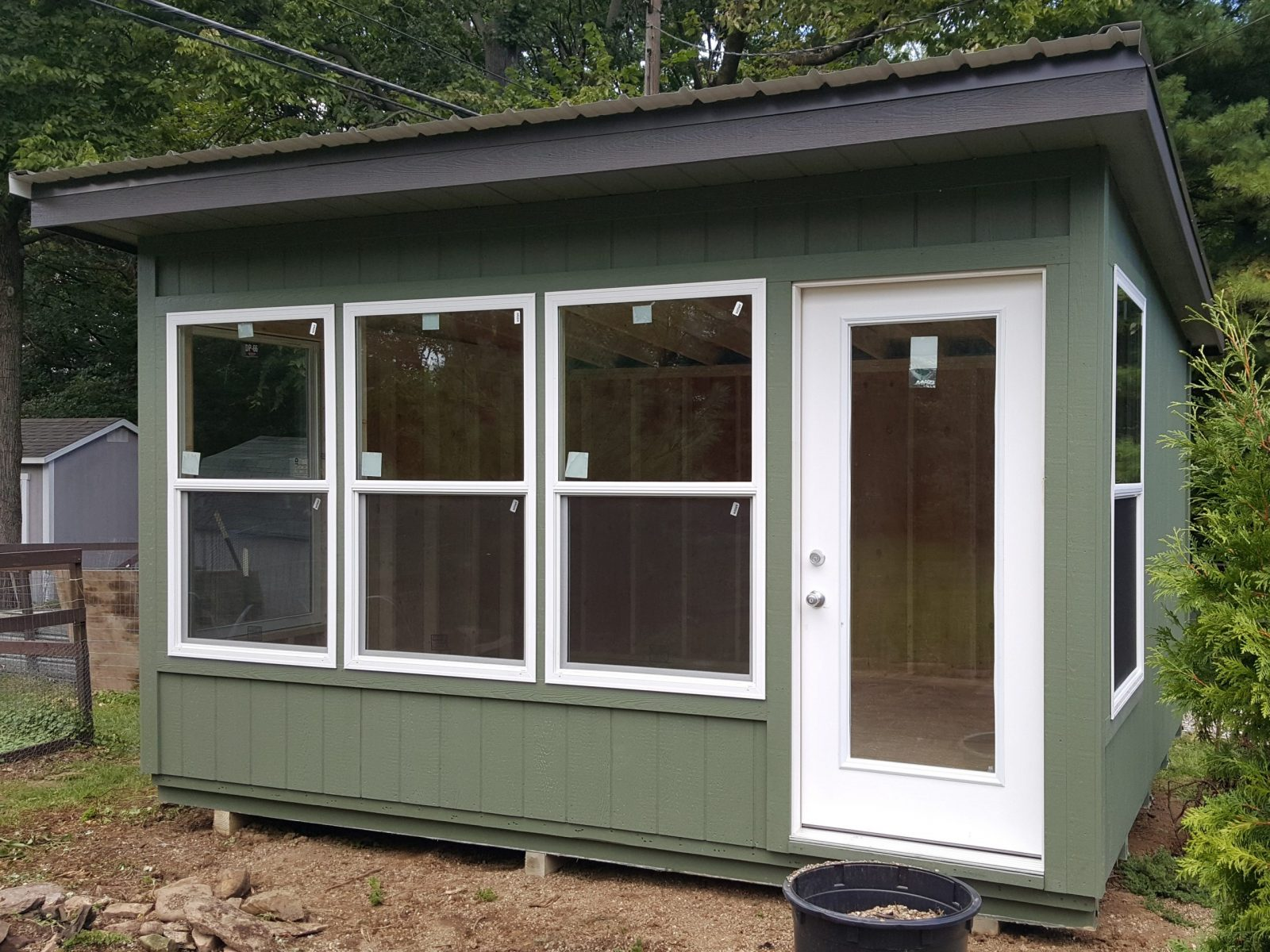 sunlit modern studio shed for sale in central ohio