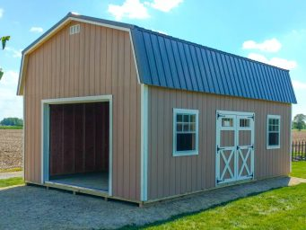 extra high garage shed built on site in columbus ohio