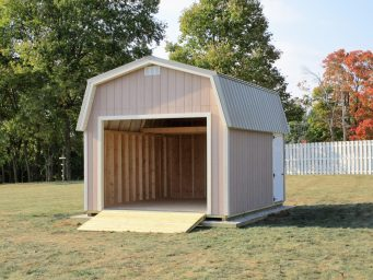 nice garage shed for sale in central ohio with garage door
