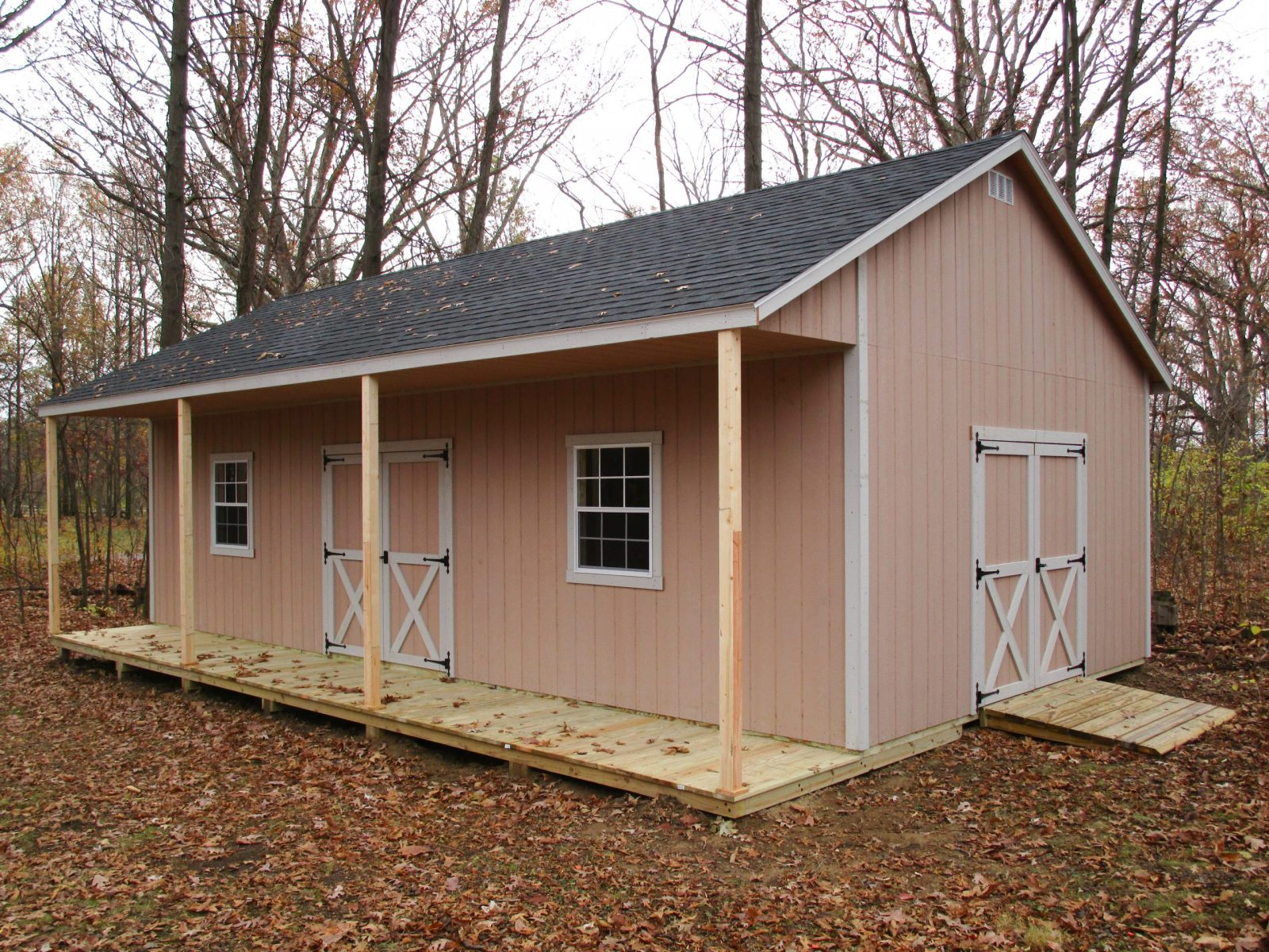prefab hunting cabin in central ohio
