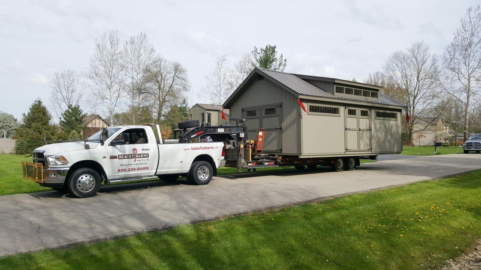 simple prefab cabin delivery in central ohio