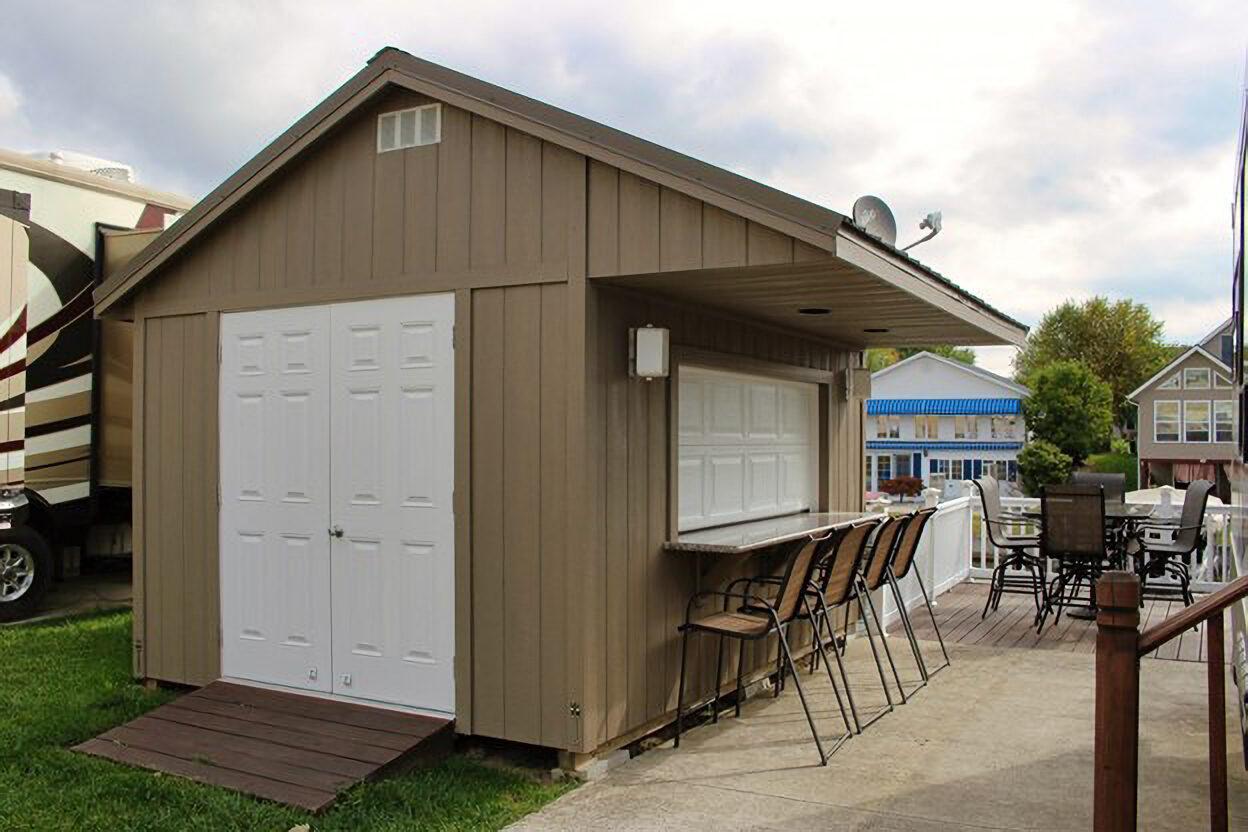 prefab shed bar ideas near columbus ohio