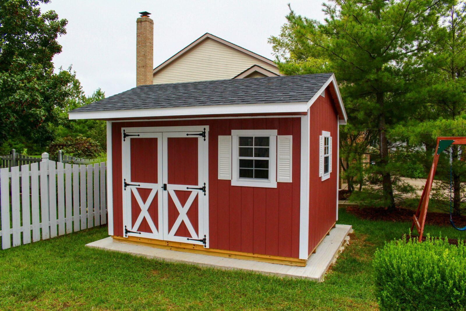 beautiful garden shed near dayton ohio backyard