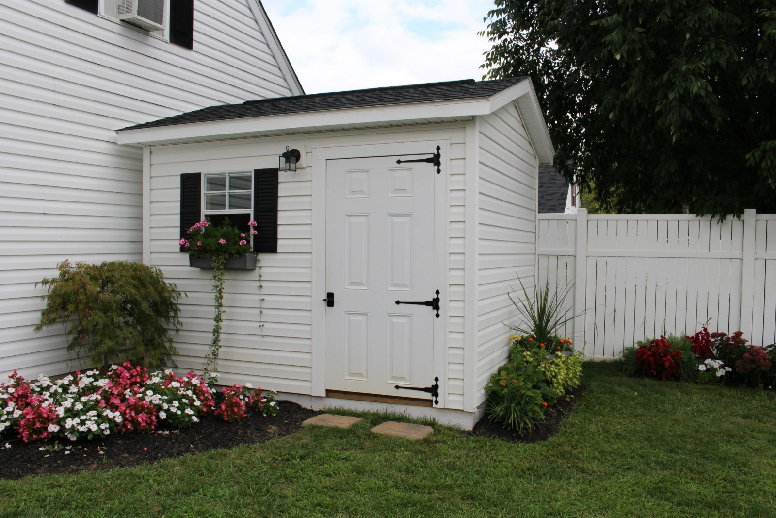 custom garden shed that matches house in ohio
