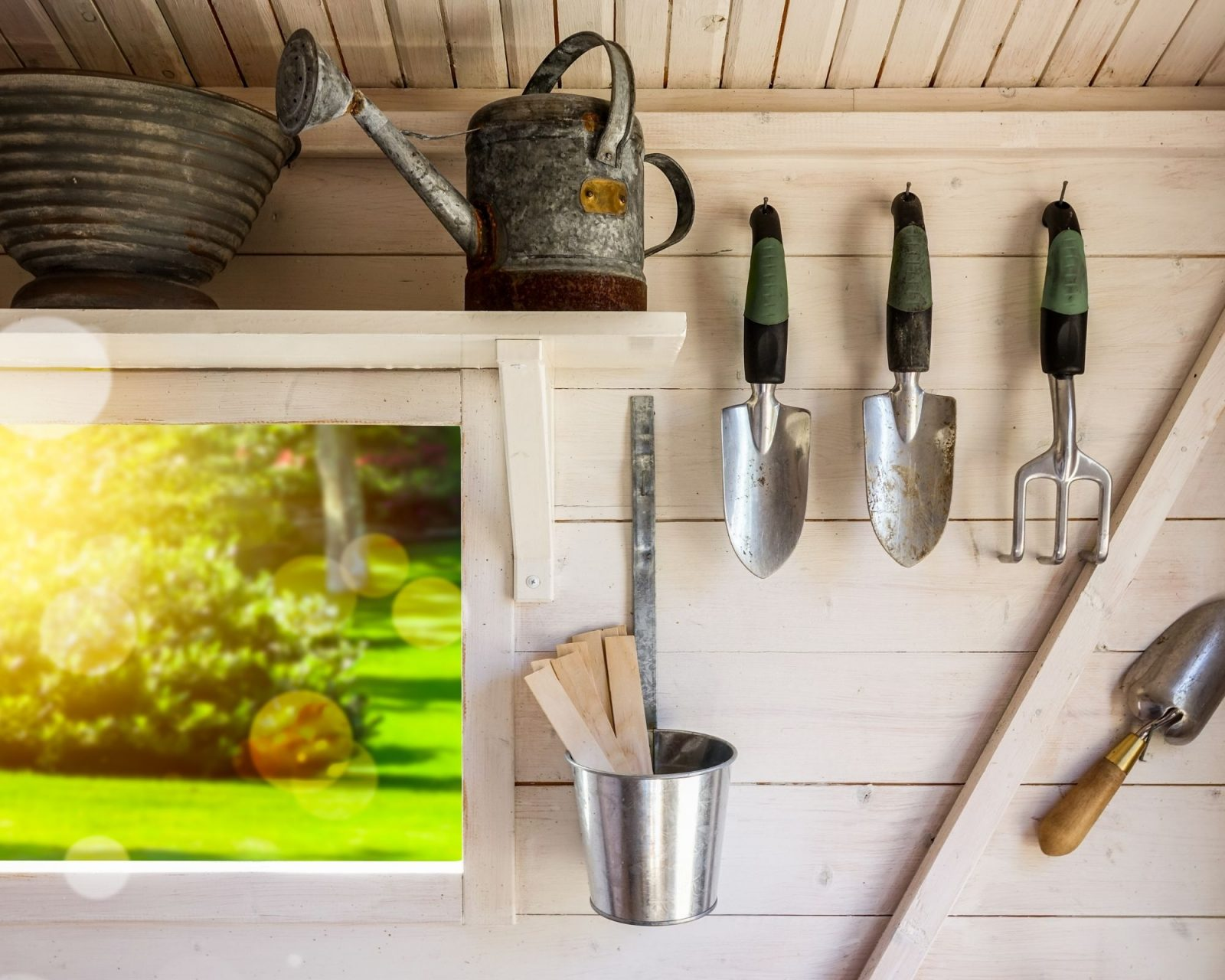 garden shed tool storage in central ohio 1