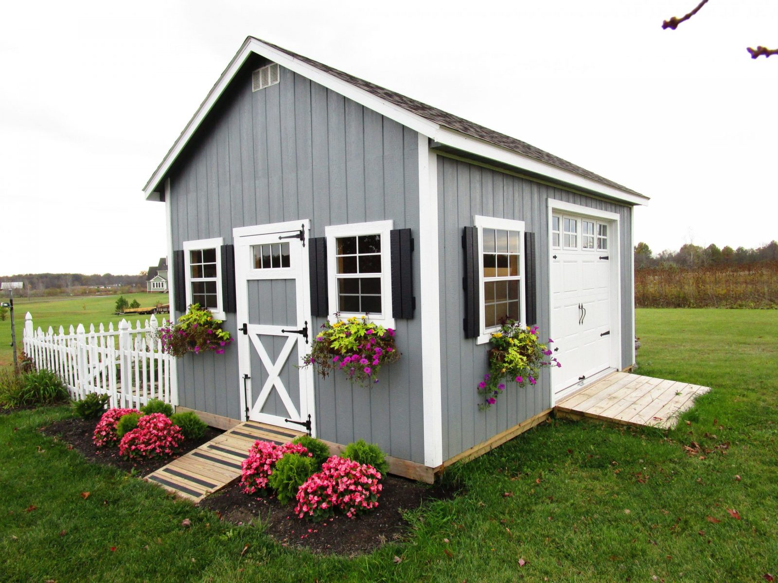 garden shed adds stunning beauty to yard in central ohio